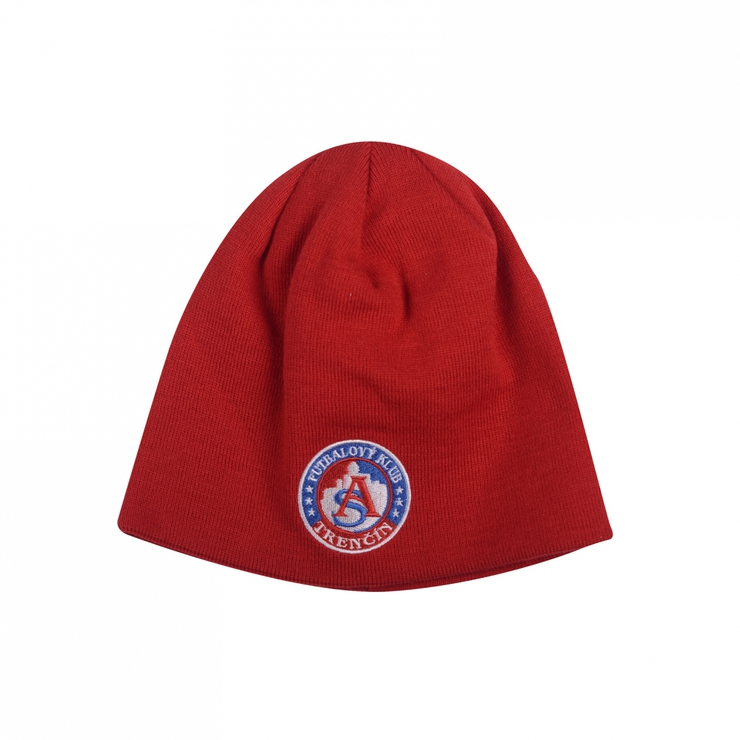Winter cap AS Trenčín red with logo