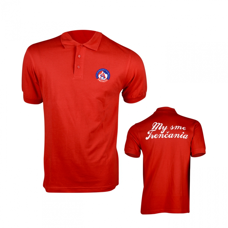 Poloshirt My sme Trenčania red for children