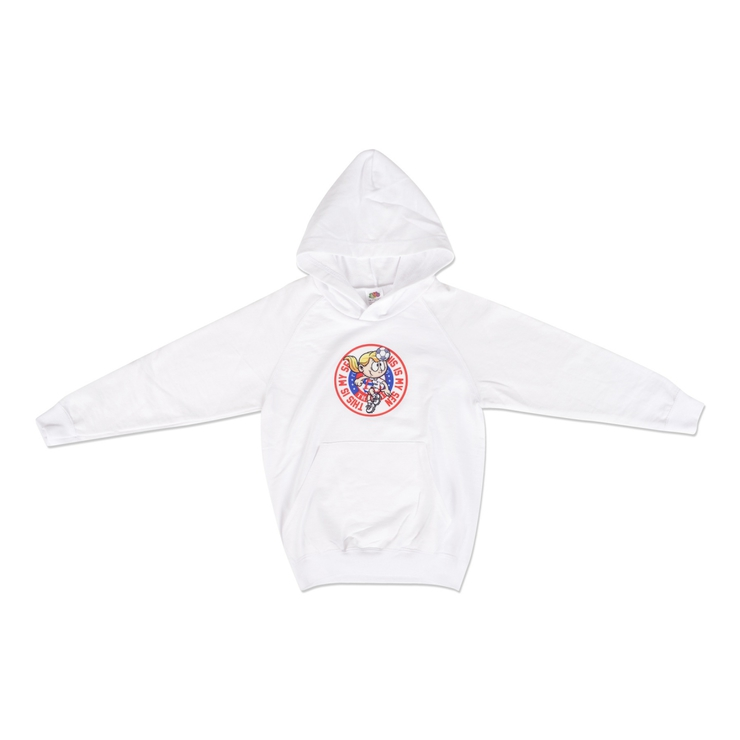 Hoodie white for girl