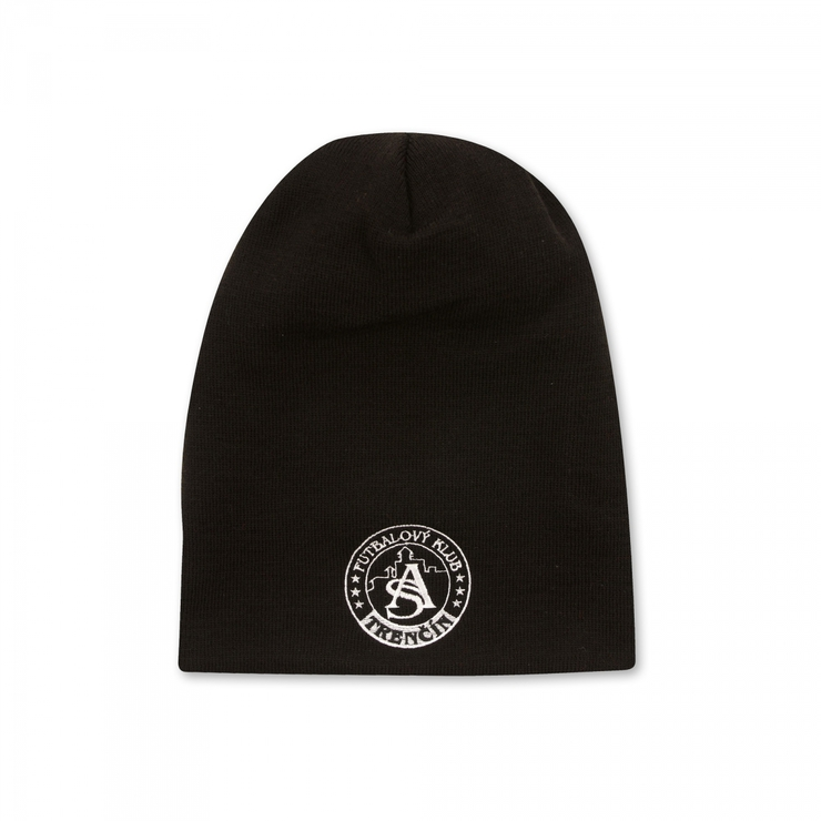 Long winter cap AS Trenčín black with logo