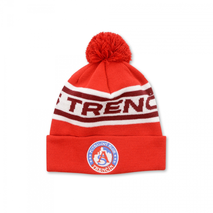 "Winter cap "" AS TRENČÍN"" red"