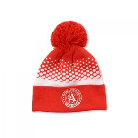 Winter cap AS Trenčín red and white