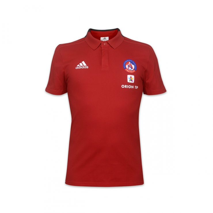Poloshirt red Adidas for children