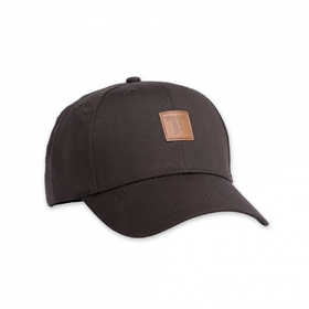 Classy baseball cap with leatherette patch